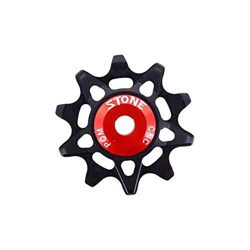 MPWPQ Pulley Wheel Gear Guide Roller Jockey 10t 12t 14t 16t Bearing Road MTB Bike Rear Derailleur For M9000 (Color : 10 red hollow)