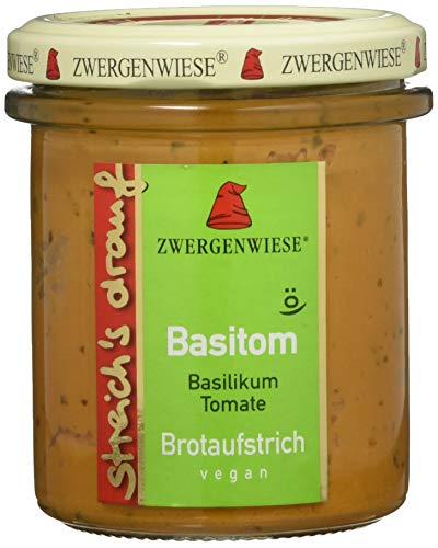Zwergenwiese Bio Aufstrich streichs drauf Basitom (Basilikum-Tomate) laktosefrei, 160 g
