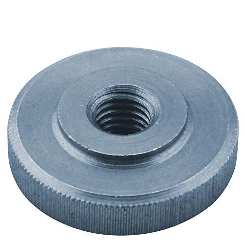 D2D - Tuercas moleteadas (4 unidades, tamaño: M 5, según DIN 467, forma baja de acero galvanizado)