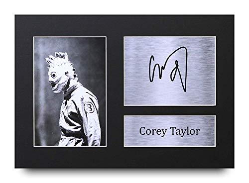 HWC Trading Corey Taylor A4 Sin Marco Regalo De Visualización De Fotos De Impresión De Imagen Impresa Autógrafo Firmado por Slipknot Aficionados A La Música