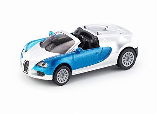 SIKU 1353, Voiture de sport Bugatti Veyron Grand Sport, métal/plastique, bleu/argenté, voiture jouet pour enfants