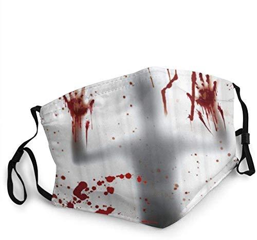 Keyboard cover Mundschutz Gesichtsschutz Halloween Ghosts with Bloody Handprint Mundschutz mit Staub Wiederverwendbarer Schutz Mundschutz gegen Verschmutzung, Anti-Smog