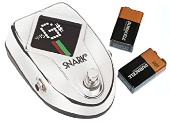 Bundle-2 Items-Snark SN-10S Chromatic Pedal Tuner and 2 Duracell 9v Batteries