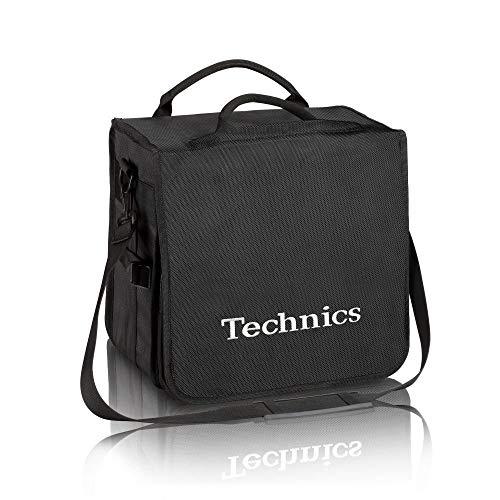 Technics borsa nera con scritta argentata per trasportare dischi in vinile (capienza 45 dischi)