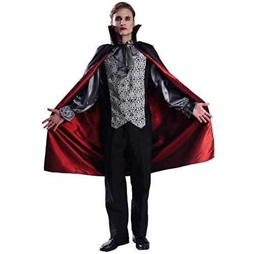 SEA HARE Disfraz de Vampiro de Lujo para Hombre de Halloween