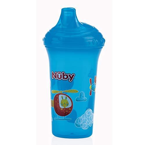 Nûby ID10366AQUA lekvrije drinkbeker, 270 ml, blauw