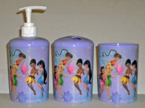 Disney Fairies Tinkerbell 3-Piece Bathroom Accessories Set