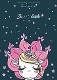 BRAINCHILD BOOKS - Skizzenbuch A4: Dickes, leeres Skizzenbuch | Din A4, 122 Seiten, weiß | zum Malen, Zeichnen und Gestalten | Design: Einhorn für Mädchen