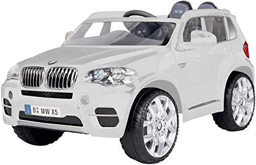 ROLLPLAY Premium Elektrofahrzeug mit Fernsteuerung und Rückwärtsgang, Für Kinder ab 3 Jahren, Bis max. 35 kg, 12-Volt-Akku, Bis zu 5 km/h, BMW X5 SUV, Weiß