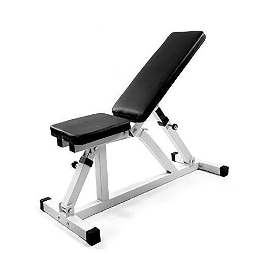 DelongKe Bauchmuskel Flacher Fitnessstuhl, Multifunktionale Fitnessgeräte Hantelbank Home Fitness Bankdrücken