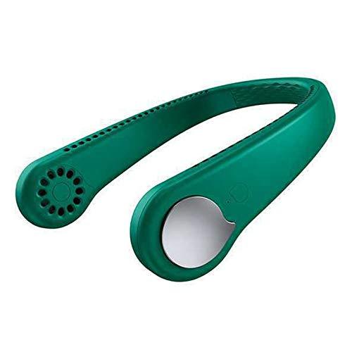 Mini ventilador de cuello colgante para deportes al aire libre con cubierta recargable por USB, para deportes al aire libre, enfriador de aire