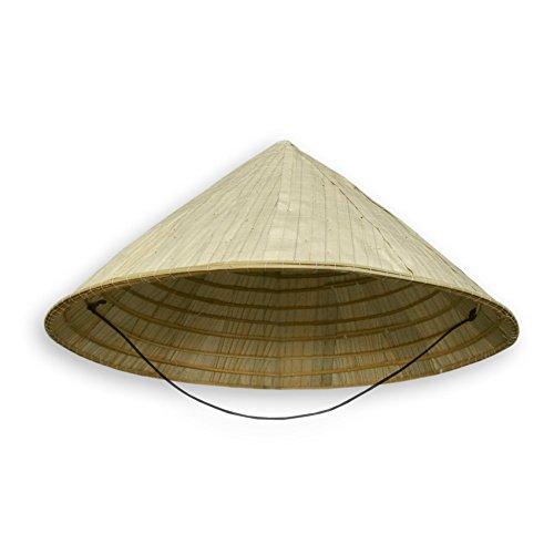 Wilai Chinahut, Sonnenhut, Bambushut - Verschiedene Ausführungen (Modell 80019 - Größe: ca. 40 cm x 18 cm)