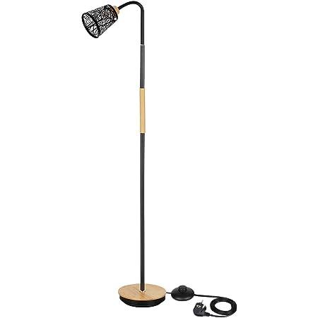 Lampe sur pied réglable - Col de cygne flexible à 360° - Avec motif noir - Pour chambre à coucher, salon