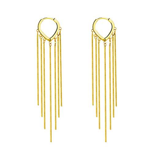 YRC Fácil de Usar Fringe Line Pendientes Oro Colgante Pendientes Joyas de Mujer Fiestas diarias cumpleaños para niñas para el Uso de Todo el día