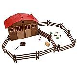 Set modello di scena di fattoria, set di accessori giocattolo fattoria per bambini, simulazione Mini modello di scena di fattoria, simulazione fattoria, fattoria giocattolo