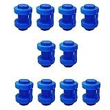 GZWY Set 10 Stück Trampolin Kappen Pfostenkappen für die Netzstangen des Trampolins Ø 25 MM, Trampolin Abschlusskappen Sicherheitsnetz Ersatzteil, Blau