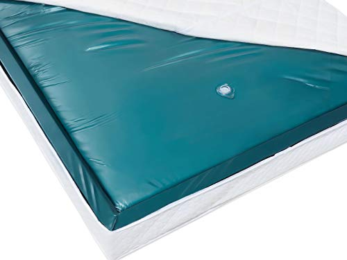EU Super King Waterbed Mattress 6ft Mono Blue Vinyl Full Wave Reduction