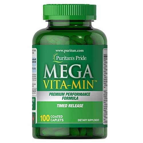 Mega Vita-Min™ Multivitamin Timed Release 100 caplets by Puritan
