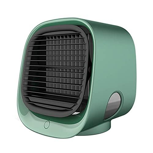 Ai-lir 300 ml Acondicionador de aire pequeño Minifetes Aire acondicionado Aire acondicionado Ventilador USB Recargable Portátil Enfriador de aire Duracion de diseño tranquilo Desktop Air Fan de enfria