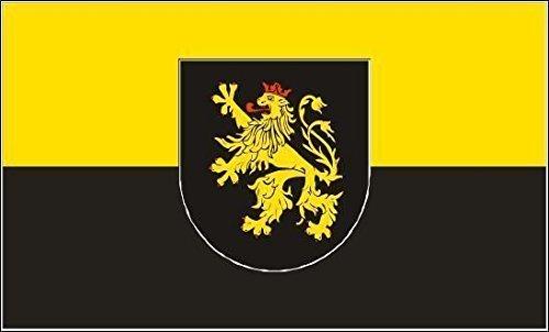 U24 Fahne Flagge Pfalz mit Wappen Bootsflagge Premiumqualität 30 x 45 cm