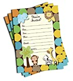 50 Jungle Invitations and Envelopes (Large Size 5x7) - Baby Shower - Birthday Party - Any Occasion