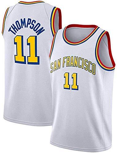 WHYYT Jerseys de la NBA de los Hombres - Golden State Warriors # 11 Klay Thompson Basketball Jersey, Chaleco sin Mangas Transpirable Bordado,M(170~175CM/65~75KG)