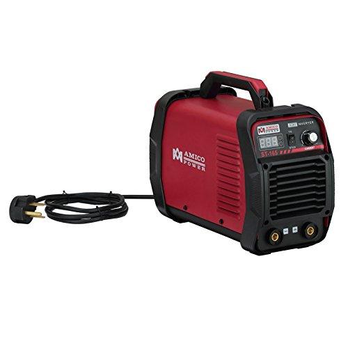 AMICO POWER ST-165 165 Amp Lift-TIG Stick Arc Welder 115V & 230V IGBT Inverter DC Welding, Red