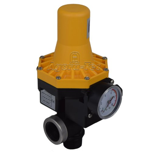 Agora-Tec Pumpen Druckschalter AT-DW-3 ohne Kabel zur Pumpensteuerung für Kreisel-, Tauch- Tiefbrunnenpumpen mit Betriebsdruck von 7 bar, AT 003 001 001
