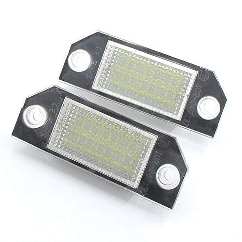2 UNIDS DC12V Coche Número de matrícula Lámpara de luz 6W 24 Luz blanca Ajuste para Ford para FOCUS 2 C-MAX Placa Bulbo