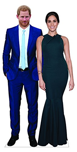 aahs!! Engraving Prince Harry and Meghan Markle Life Size Cardboard Stand Up
