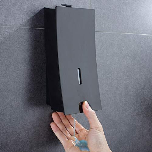 Dispensador de jabón de 450 ml, dispensador de jabón para Pared, dispensador de champú y jabón líquido para Limpieza de Manos en Gel, Negro, Tamaño Libre