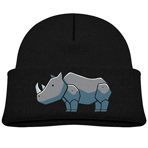 hgdfhfgd Rinoceronte Bebé Bebé Niño Niño Invierno Cálido Gorros Sombrero Lindo Gorro Grueso y elástico para niños Mantenga Caliente 3639
