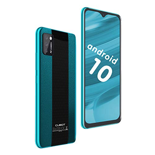 "CUBOT Note 7 Smartphone 5.5"" Teléfono móvil 4G 3100mAh Dual SIM Android 10.0, Triple Cámara 16GB ROM Face ID CUBOT Oficial, Verde"