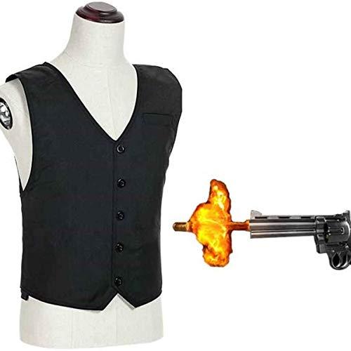 Bulletproof Vest Stab Resistenta kläder, Klass 2 Bulletproof Front och bakre brösttaktisk skyddsväst, för personligt säkerhetsskydd,Black,Steel