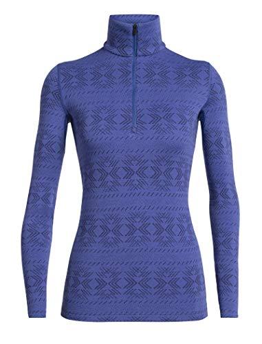 Icebreaker 250 Vertex Longsleeve Half Zip Shirt - Crystal - Vrouwen - Thermo Ondergoed