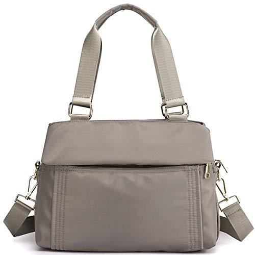ZQKJLH Crossbody Bag for Women, MJH-B08 Ladies Casual Sporty Waterproof Nylon Shoulder Bag Large Messenger Handbag for Shopping Travel - Black/Brown/Gray/Pink - 11.8 * 4.7 * 9 inches