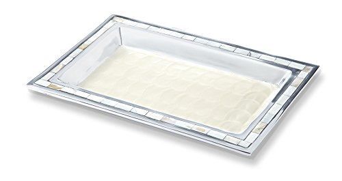 Julia Knight Bath Collection Vanity Tray, One Size, Snow