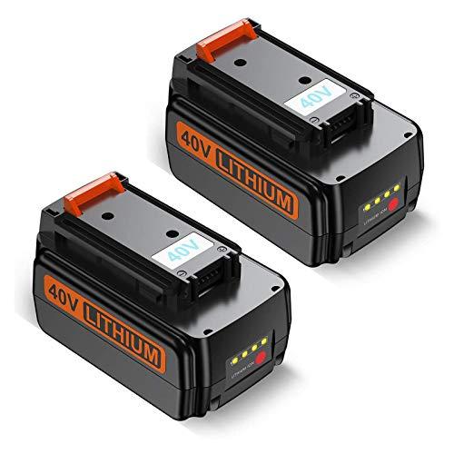 Dutyone 2 Pack 3000mAh Replacement Battery for Black and Decker 40V Max Cordless Power Tool LST540 LST136W LCS1240 Lithium Battery LBXR36 LBXR2036 LBX1540 LBX2040 LBX2540 40volt Lithium Batteries