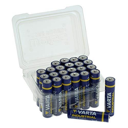 Varta Industrial Batterie AAA Micro Alkaline Batterien LR03, Made in Germany, in praktischer Batteriebox von WEISS - more power +, 24er-Box