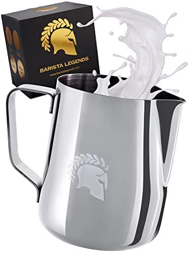 Barista Legends® Milchkännchen Edelstahl 600ml mit speziellem ...