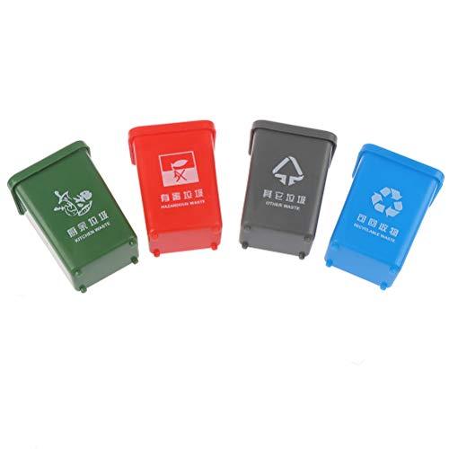 NIHAOYA Cubo de basura en miniatura de juguete de clasificación, aprendizaje, cubo de basura educativo para niños pequeños, niños, niñas, escuela, jardín de infancia