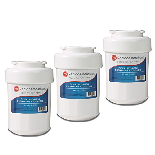 GE MWF SmartWater Comparable Refrigerator Water Filter 3 Pack