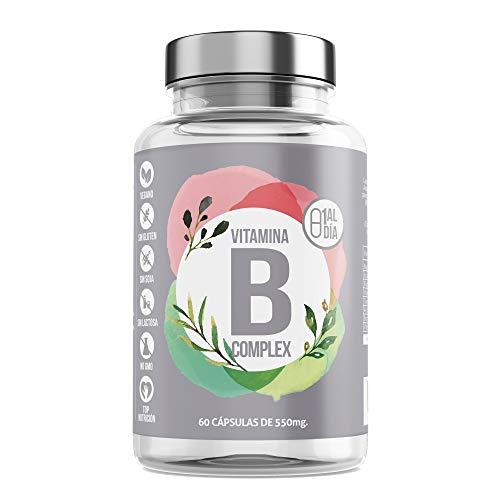 Vitamina B Complex- Aquisana cápsulas | Complejo de Vitamina B con Minerales | Vitaminas B6 y B12 |Refuerza Tus Defensas + Energía -libre de alérgenos-(60 Cápsulas)