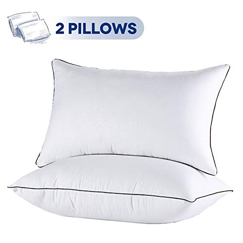 JOLLYVOGUE Bed Pillows for Sleeping 2 Pack, Hypoallergenic Pillows for Side and Back Sleeper, Down Alternative Hotel Quality Sleeping Pillows Soft Pillow-Standard Size