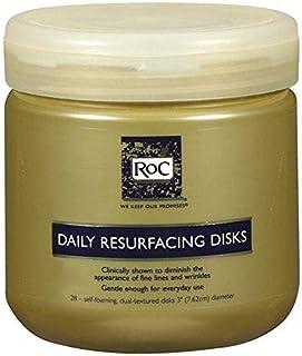 أقراص الوجه اليومية لإعادة تسطيح الوجه من شركة ROC، وسادات تقشير لإزالة المكياج، منظف مرطب للبشرة