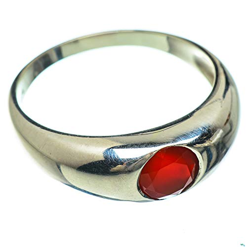 Ana Silver Co Red Onyx Ring Size Z 1/2 (925 Sterling Silver)