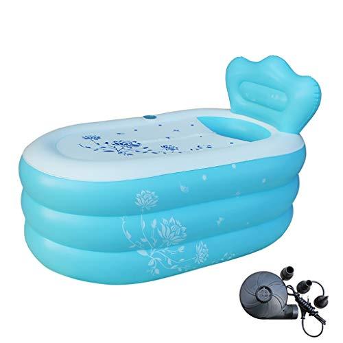 dames opblaasbaar bad, stomen het zwembad, rechthoek dikker sauna bubble bad bloem bad enkele bad thuis spa warm bad met pomp 150×90×48cm