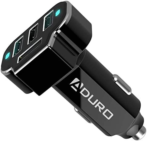 Aduro 4 Port Car Charger USB Adapter 12V Fast Car Charger USB Adapter Power Station 5 2A 26W product image