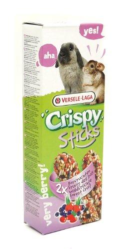 Versele Laga - Snacks barritas crujientes para conejos y chinchillas (2 paquetes de 8) (Tamaño Único) (Frutas del Bosque)