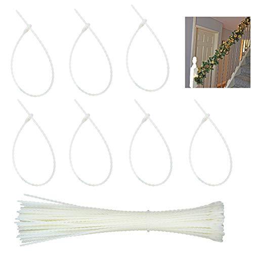 EUYuan Garland Ties, 10.2 Inch Reusable Christmas Banisters Ties for Christmas lights and decorations (Strong Nylon, Cable Ties etc)
